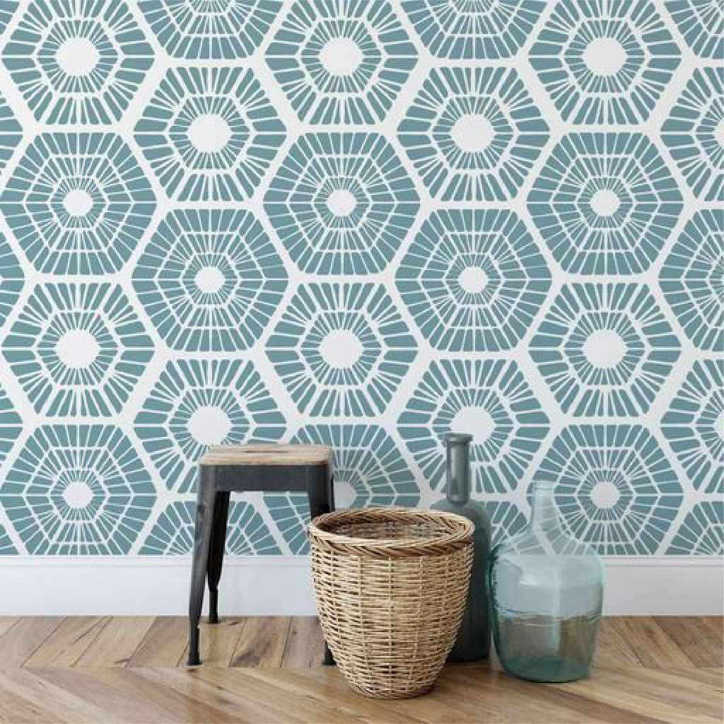 How To Use Stencils To Create A Focal Wall 9
