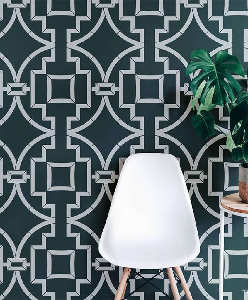 How To Use Stencils To Create A Focal Wall 6