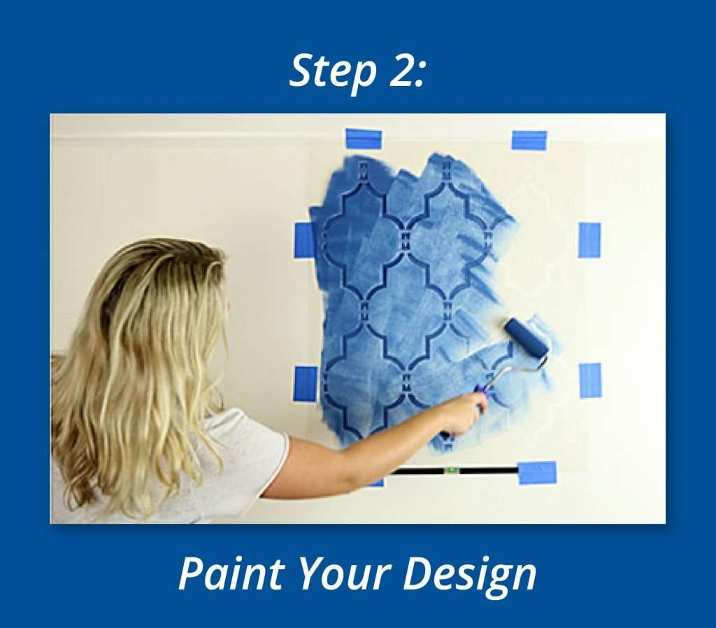 How To Use Stencils To Create A Focal Wall 2