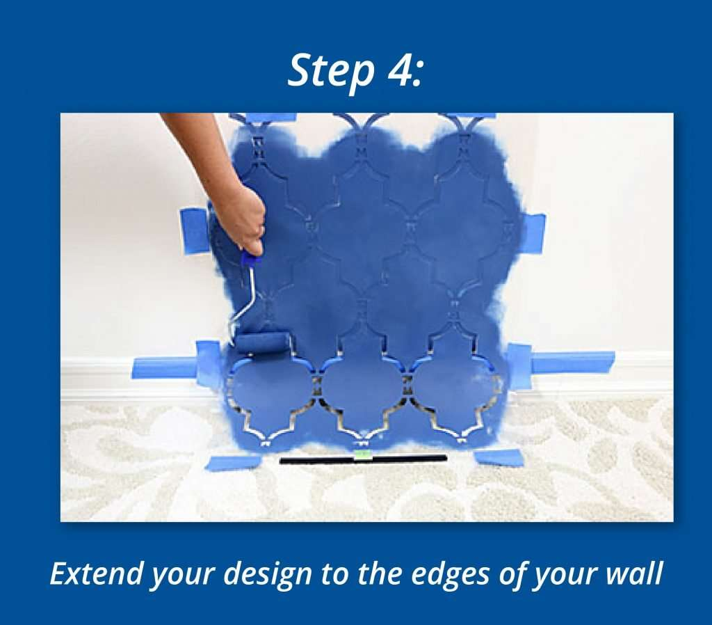 How To Use Stencils To Create A Focal Wall 4