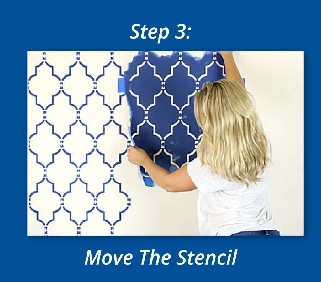 How To Use Stencils To Create A Focal Wall 3
